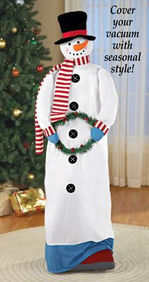 Holiday Snowman Vacuum Cover