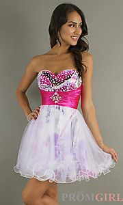 Buy Short Strapless Sweetheart A-Line Dress at PromGirl