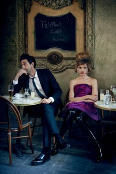 Natalia Vodianova & Adrien Brody by Peter Lindbergh for Vogue US