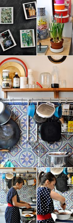 "Rachel Khoo's Lovely kitchen... (if she can run a restaurant from her TINY one, there is no excuse for anyone not to cook ""proper"" food in theirs! that goes for me too...)"