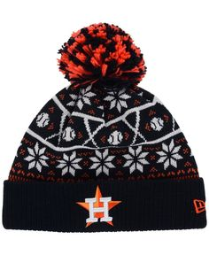 8307f526a9b New Era Houston Astros Sweater Chill Pom Knit Hat Knit Hat For Men