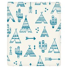 TeePee City Fleece Throw