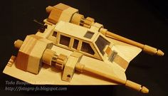 Wooden Star Wars A Wing fighter