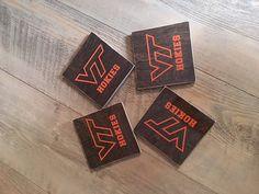 Virginia Tech hokies drink Coasters set of 4 by ForWoodenSake