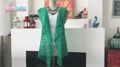 Perforated Shabby Summer Vest Making – Knitting Crochet Patterns Crochet Cardigan, Knit Crochet, Dress Patterns, Crochet Patterns, Knit Vest Pattern, Summer Vest, Crochet Videos, Vest Jacket, Free Pattern