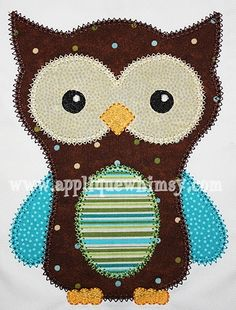 Applique Whimsy vintage owl, tested by Stitched by Janay :)