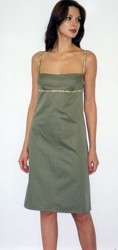 Empire CamiBodice Dress w/Embroidered Trim in by speakeasyboutique, $80.00