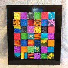 3D Wooden Blocks and Nature-Inspired Watercolors.  Completed school auction project with artwork provided by third graders.  Stars, landscapes, animal prints, stormy weather, sunsets, cosmic energy...