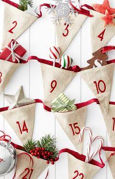 Advent Calendar Bunting Christmas Bunting, Christmas Sewing, Christmas Ornaments, Christmas Makes, All Things Christmas, Christmas Holidays, Christmas Kitchen, Christmas Countdown, Christmas Projects