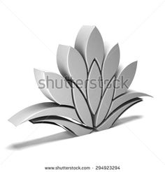 Lotus plant Logo in white.