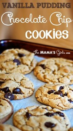 Vanilla Pudding Chocolate Chip Cookies by viola