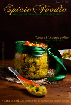 Turmeric and Vegetable Millet: Gluten-Free Side Dish | Healthy Recipes by Spicie Foodie