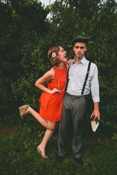 Themed Vintage Wedding Inspiration - Bridesmaids and groomsmen :) Wedding Styles, Wedding Photos, Wedding Ideas, Wedding Decor, 1940s Wedding, Vintage Weddings, Romantic Weddings, Casual Chic, 1940s Party