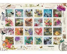 Puzzle Art Puzzle Collage de Sellos de 1500 Piezas