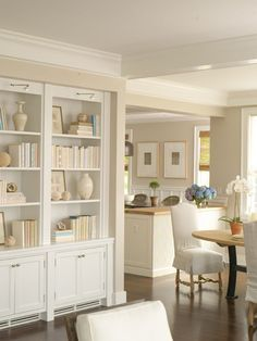 beautiful, bright Built ins