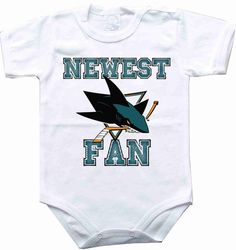 Baby bodysuit Newest fan San Jose Sharks hockey by sportFanBaby