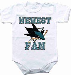 Baby bodysuit Newest fan San Jose Sharks hockey by sportFanBaby