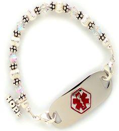 Translucent Crystal Medical ID Bracelet