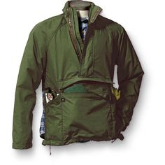 Eddie Bauer offers another option for the Jacket/pillow enthusiasts out there, an authentic and highly functional anorak has all of the features you need for an adventurous run down the river. Camping Outfits, Eddie Bauer, Outdoor Outfit, Outdoor Gear, Trekking Outfit, Mens Outdoor Clothing, Cold Weather Gear, Tactical Clothing, Field Jacket