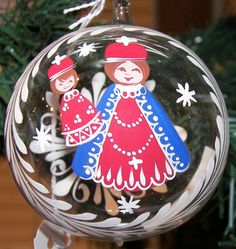 Blown Glass Handpainted Ornaments with by TheMerchantOfEurope