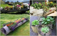 Fab Art DIY Rustic Log Decorating Ideas for Home and Garden23