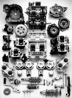 Yamaha RD 500 engine.