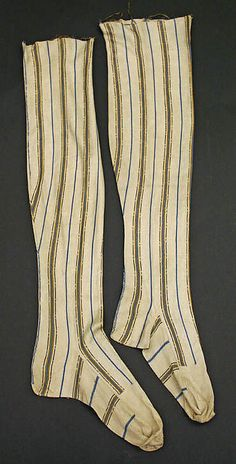 Mid 18th century stockings  silk, European