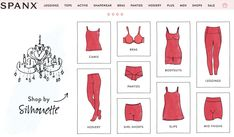 11. Kim goes back to Spanx.com and explores the website. The engaging and visually appealing website helps Kim learn about other SPANX products such as leggings, tops, active wear, bras, and panties. Kim purchases more Mid-Thigh shapewear product in addition the some of the new products that she just came across.