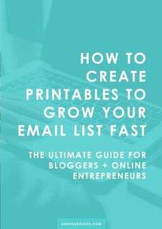 How to Create Printables + Content Upgrades To Grow Your Email List Fast. Email Marketing Design, Email Marketing Strategy, E-mail Marketing, Email Design, Business Marketing, Online Marketing, Content Marketing, Business Tips, Online Business