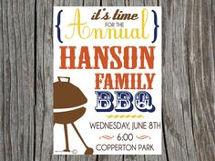 Hey, I found this really awesome Etsy listing at https://www.etsy.com/listing/73119263/printable-bbq-barbecue-invitation-family
