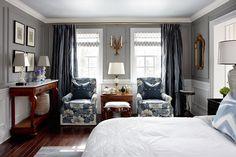blue and gray bedroom - Sarah Richardson