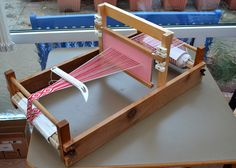 Three ways of using a double slotted heddle.   A backstrap.    I am weaving 13 thread heart patterns for bookmarks.    I use a double slo...