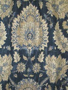 Castleford Indigo - Printed duck cloth, multi purpose medium-weight fabric is perfect for