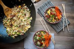 Bacon Fried Rice // shutterbean - I was literally going to cook this tonight anyway so this is perfect timing and I need some guidance anyway!