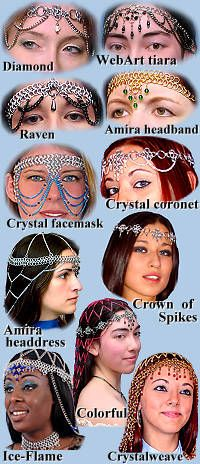 Chainmail Headpieces, Headbands and Headdresses