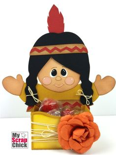 Indian Girl Harvest Treat Box : click to enlarge