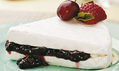 Brie w berries!!!! a delicious way to try hot brie as a dessert <3
