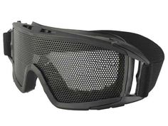 Cool Airsoft Tactical Goggles Metal Mesh Big Wide Black