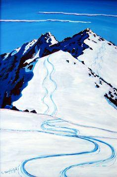 Mountain Drawing, Mountain Art, Alaska, Linocut Prints, Art Prints, Mountain Illustration, Living Room Prints, Ski Posters, Mountain Paintings