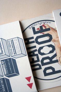 tarantino film packaging by Marta Olczak, via Behance