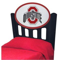 Fan Creations NCAA Slat Headboard NCAA Team: Ohio State, Finish: Black, Size: Twin