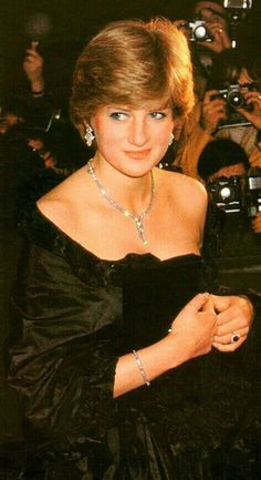 March Lady Diana Spencer making her first official appearance at a gala evening at Goldsmith's Hall to raise funds for the Royal Opera House in London.