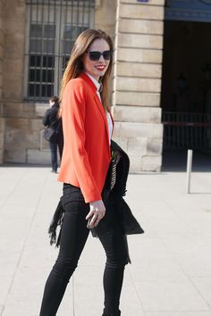 Fotos de street style en Paris Fashion Week: Coco Rocha