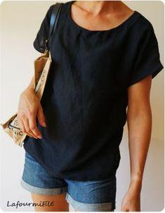 Top en crépon noir tout léger pour l'été - Japan couture #JCA