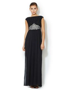 Silk Chiffon Embellished Waist Gown by Notte By Marchesa at Gilt