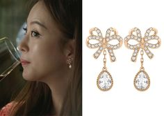 "Han Ye-Seul 한예슬 in ""Birth of a Beauty"" Episode 3.  Swarovski Ballerina Earrings 5095712 #Kdrama #BirthOfABeauty 미녀의 탄생 #HanYeSeul"