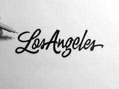 Neil Secretario, Los Angeles #Lettering #Noir #Blanc