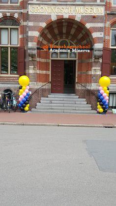 Ballonpilaar Breed Rond Hanzehogeschool Minerva Academie Groningen