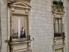 window, neighbors, neighborhood, city, cities, paris, argentina, buenos aires, 1920s, architecture, voyeurism, boundary, gateway, color, photograph, french, apartment, building, views, community,