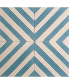 Linea Blue Encaustic Cement Tile by TERRAZZO-TILES. http://www.terrazzo-tiles.co.uk/linea-laguna-blue-encaustic-cement-tile.html